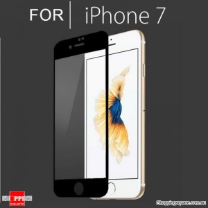 Full Cover Tempered Glass Film Screen Protector For Apple iPhone 7 Black Colour