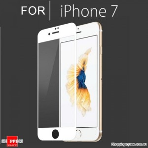 Full Cover Tempered Glass Film Screen Protector For Apple iPhone 7 White Colour
