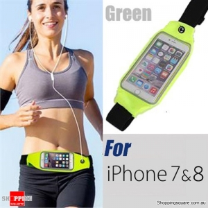 Waterproof Sports Waist Bag with for iPhone 8,7,6 and SmartPhone - Green Colour