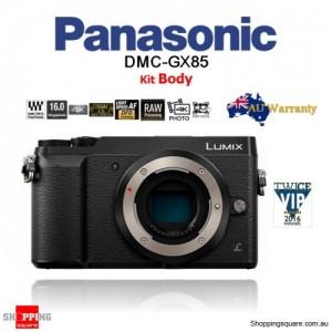 Panasonic Lumix DMC-GX85 16MP Wi-Fi 4K Mirrorless DSLR Camera Body Black