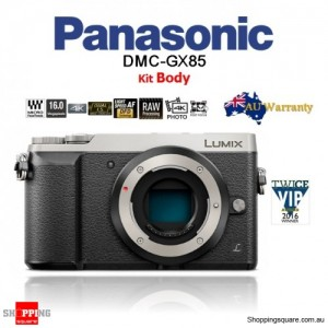 Panasonic Lumix DMC-GX85 16MP Wi-Fi 4K Mirrorless DSLR Camera Body Silver