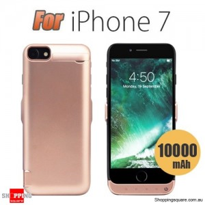 10000mAh Battery Power Bank Case Charger for iPhone 7 Rose Gold Colour
