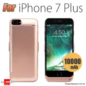 10000mAh Battery Power Bank Case Charger for iPhone 7 Plus Rose Gold Colour