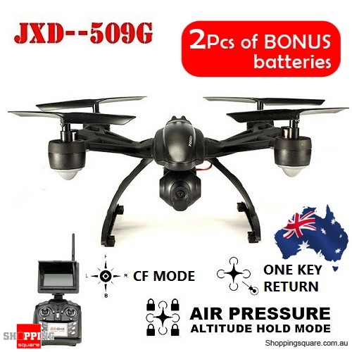 JXD 509G RC Drone 5.8G FPV Transmission With 2.0MP HD Camera + Bonus 2PC Spare Battery