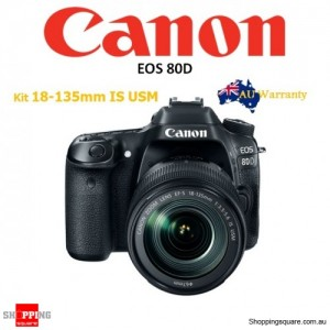 Canon EOS 80D Kit EF-S 18-135MM f/3.5-5.6 Nano USM IS DSLR Digital Camera