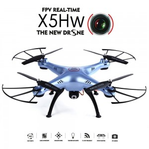 Syma X5HW FPV HD Camera WIFI Altitude Control Mode 2.4G 4CH 6Axis RC Quadcopter RTF Blue Colour