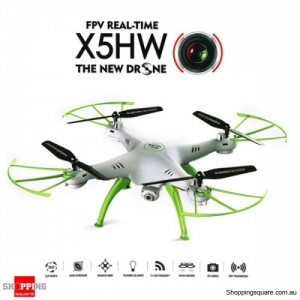 Syma X5HW FPV HD Camera WIFI Altitude Control Mode 2.4G 4CH 6Axis RC Quadcopter RTF White Colour