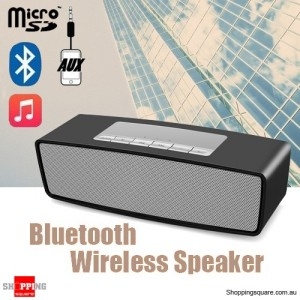 Portable Wireless Stereo Bluetooth Speaker Loudspeakers HIFI with Bass Sound Black Colour