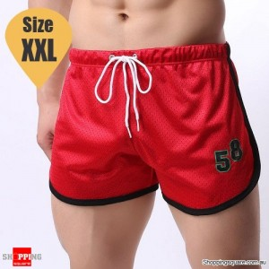 Summer Men's Fitness Training Running Jogger Beach Sports Shorts Pants Trousers Red Colour Size XXL