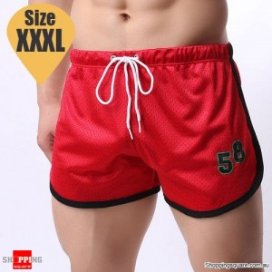 Summer Men's Fitness Training Running Jogger Beach Sports Shorts Pants Trousers Red Colour Size XXXL
