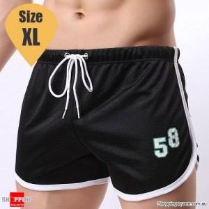 Summer Men's Fitness Training Running Jogger Beach Sports Shorts Pants Trousers Black Colour Size XL