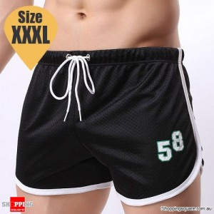 Summer Men's Fitness Training Running Jogger Beach Sports Shorts Pants Trousers Black Colour Size XXXL