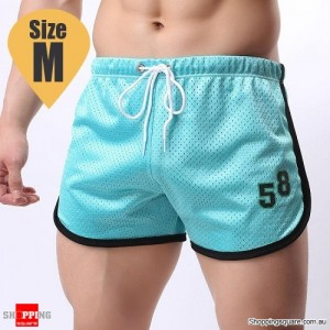 Summer Men's Fitness Training Running Jogger Beach Sports Shorts Pants Trousers Light Blue Colour Size M