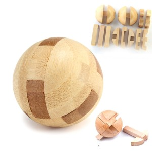 Intelligence Wooden Brain Teaser Puzzle Luban Lock Magic Ball Toy for Education Entertainment