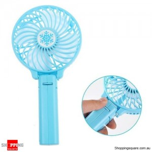 Portable Foldable Rechargeable Mini Handheld Cooling Fan 18650 Battery Operated Pink Colour