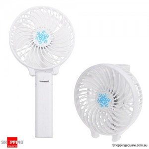 Portable Foldable Rechargeable Mini Handheld Cooling Fan 18650 Battery Operated White Colour