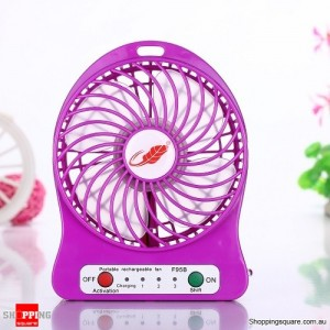 Super Powerful Mini Rechargeable Cooling Fan Genuine F95B 2016 Version Purple Colour
