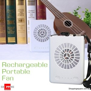 Multifunctional USB Battery Charger Portable Fan W910 White Colour