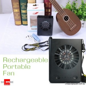 Multifunctional USB Battery Charger Portable Fan W910 Black Colour