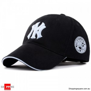 Mens Womens NY Logo Snapback Baseball B-boy Hip-Hop Adjustable Cap Hat Black Colour