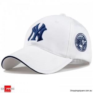 Mens Womens NY Logo Snapback Baseball B-boy Hip-Hop Adjustable Cap Hat White Colour