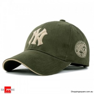 Mens Womens NY Logo Snapback Baseball B-boy Hip-Hop Adjustable Cap Hat Army Green Colour