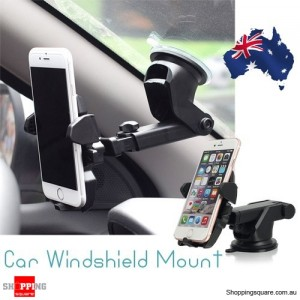 Universal Car Windshield Mount Holder Cradle for iPhone 7 Plus 6S SE Samsung