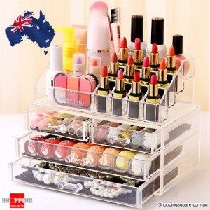 Clear Acrylic Makeup Holder Cosmetic Organizer