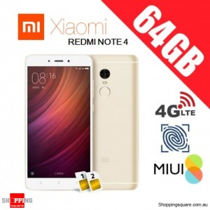 Xiaomi Redmi Note 4 64GB High Edition Dual SIM Unlocked Smart Phone Gold