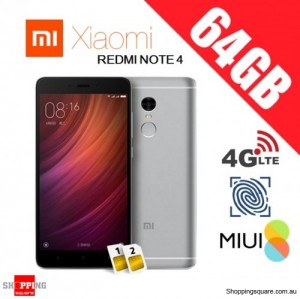 Xiaomi Redmi Note 4 64GB High Edition Dual SIM Unlocked Smart Phone Gray