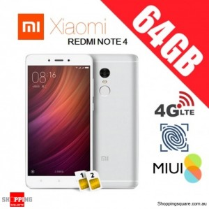 Xiaomi Redmi Note 4 64GB High Edition Dual SIM Unlocked Smart Phone Silver