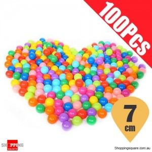 100Pcs 7cm Children Colorful Plastic Ocean Ball for Swimming Pool Soft Pit Toy with Mesh Bag