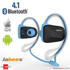 Waterproof Bluetooth Wireless Swimming Sports Headsets Stereo Headphone Earphone Blue Colour