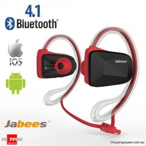Waterproof Bluetooth Wireless Swimming Sports Headsets Stereo Headphone Earphone Red Colour