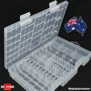 Hard Plastic Case Holder Box Organizer for AAA AA C D 9V Battery