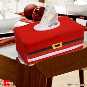 Christmas Party Santa Claus Belt Paper Tissue Box Covers for Decoration Cool