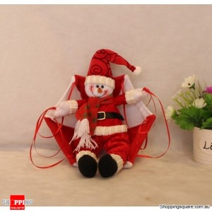 Snowman Parachute Christmas Xmas Tree Hanging Ornament Decoration Plush Red Colour