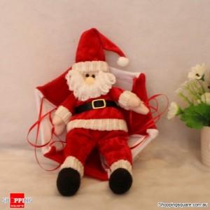 Santa Claus Parachute Christmas Xmas Tree Hanging Ornament Decoration Plush Red Colour