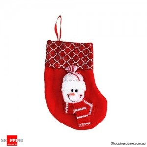 Christmas Xmas Stocking Socks Decoration Hanging Gift Bag Party Ornament Snowman Red Colour