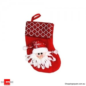Christmas Xmas Stocking Socks Decoration Hanging Gift Bag Party Ornament Santa Claus Red Colour