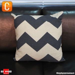 Vintage Black & Brown Linen Cotton Throw Cushion Pillow Cover Case - Pattern C