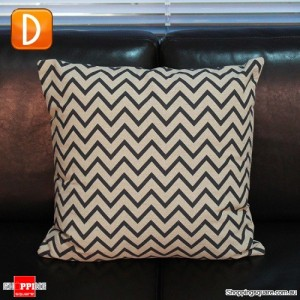 Vintage Black & Brown Linen Cotton Throw Cushion Pillow Cover Case - Pattern D
