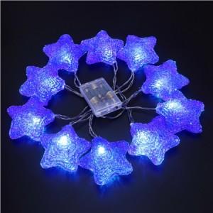 10 LED Home Christmas Star Party Light Décor -Blue