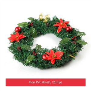 45cm Christmas Traditional Wreath with 35 LED Lights