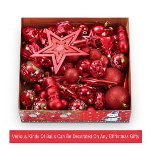 88PCS Christmas Décor Ornament Set