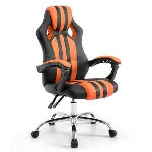 NEADER Reclining Office Computer  Chair - Black and Orange