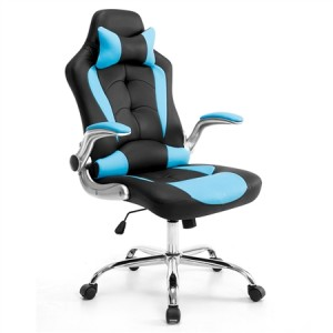 High Back Gaming and Racing Office Computer Chair - Black