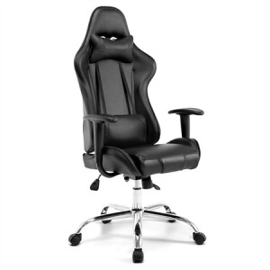 Executive Black Office Computer Chair with Adjustable Tilt