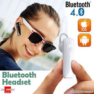 Wireless Bluetooth 4.0 Headphone Earphone Headset for IPhone 7 6s Plus Samsung Android White Colour