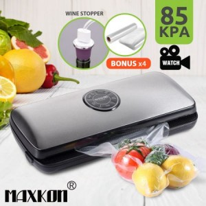 Maxkon LED Vacuum Sealer Food Saver-bags & 10 Rolls 28CM